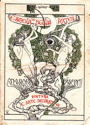 Capa do Catálogo da Exposição de 1901 - Eliseu Visconti